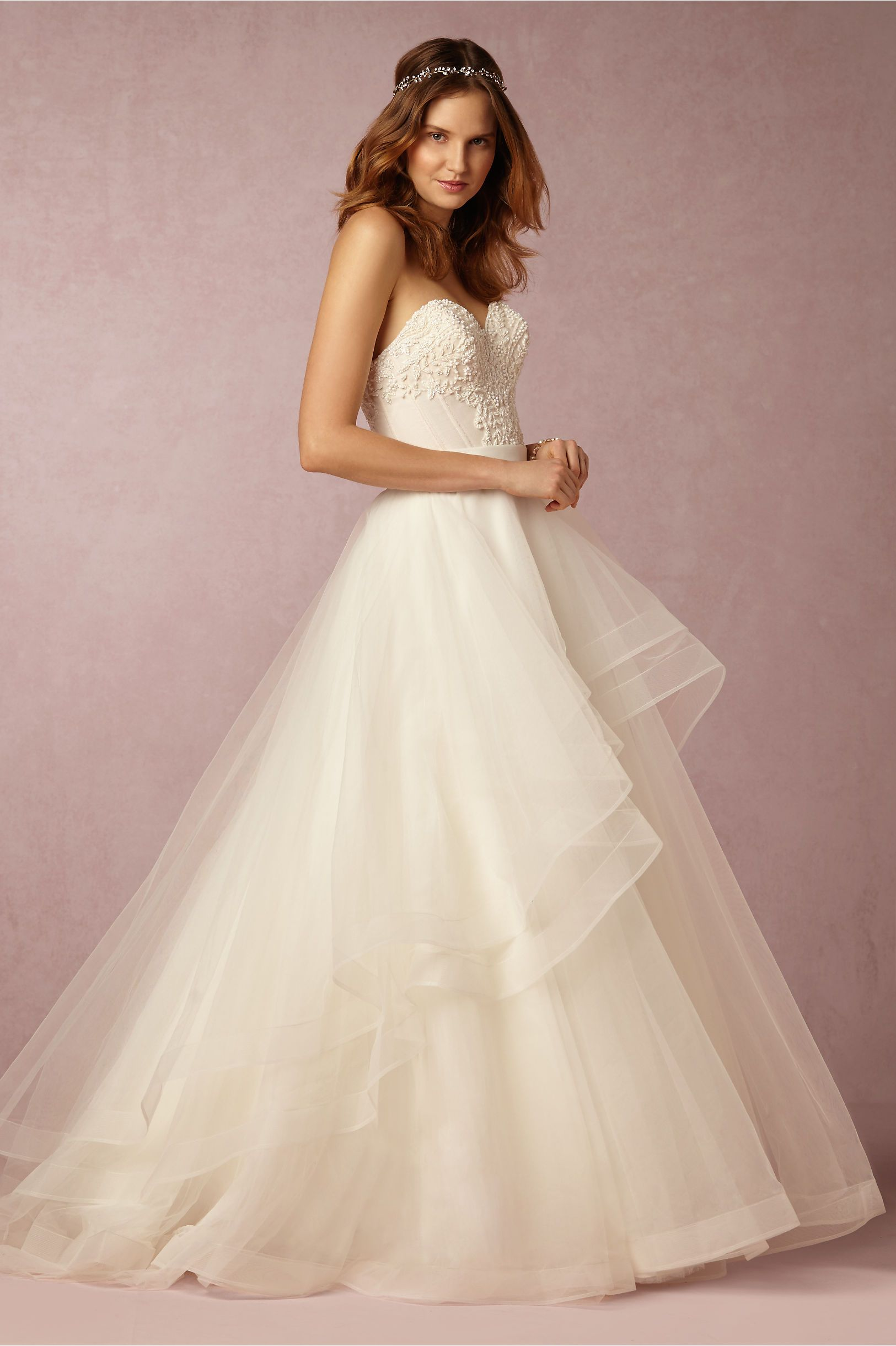 Nice BHLDN Tisha Corset u Almira Skirt in Bride Wedding Dresses Strapless