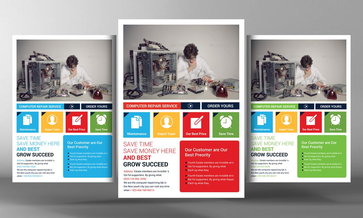 Computer And Mobile Repair Flyer By Business Templates On Creative