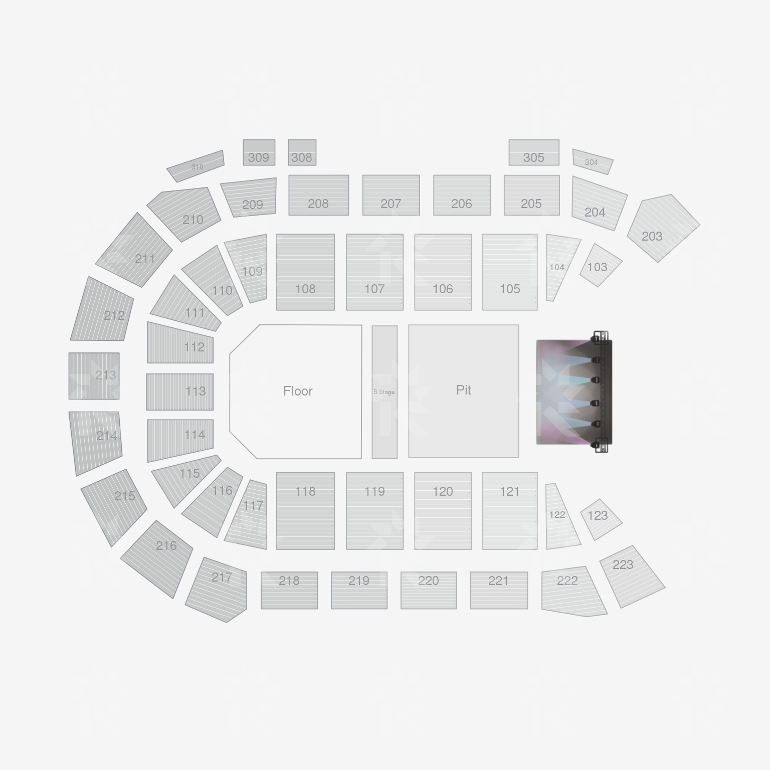 Mandalay Bay Events Center Seating Chart Unknown Event Table Setup