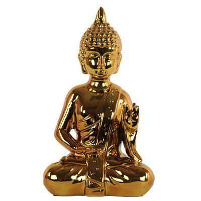 World Menagerie Knudtson Ceramic Meditating Buddha with Pointed Ushnisha Figurine #buddhadecor