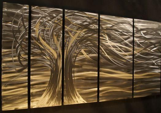 Whisper Metal Wall Art Hanging By Ash Carl Talented Artist Ash Carl Creates Hand Sanded Pa Metal Sculpture Wall