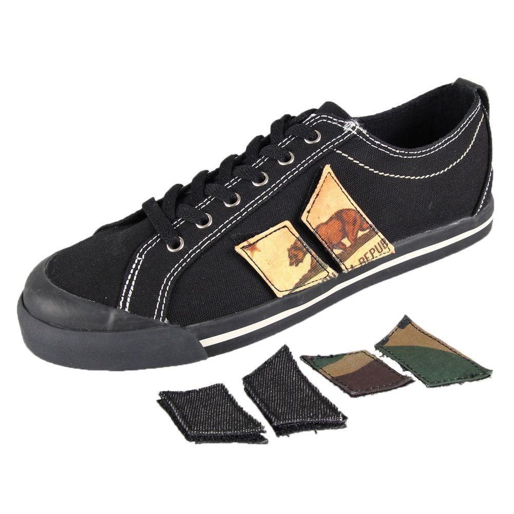 Eliot Black Velcro Pennant Patch Shoes