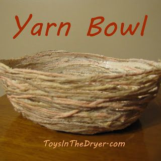 Yarn Bowl: remember to use paper mache paste!