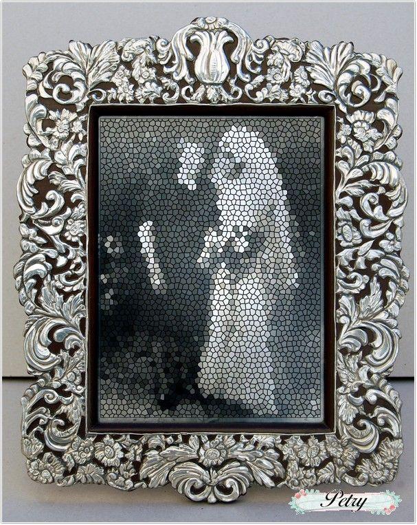 marco madera y estaño repujado | Arte en repujado | Pinterest ...