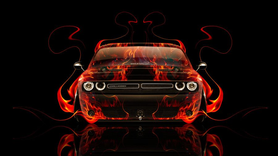 Dodge Challenger Muscle Front Fire Abstract Car 2014 HD Wallpapers Design By Tony Kokhan [www.el Tony.com]  | El Tony.com | Pinterest | Dodge Challenger, ...
