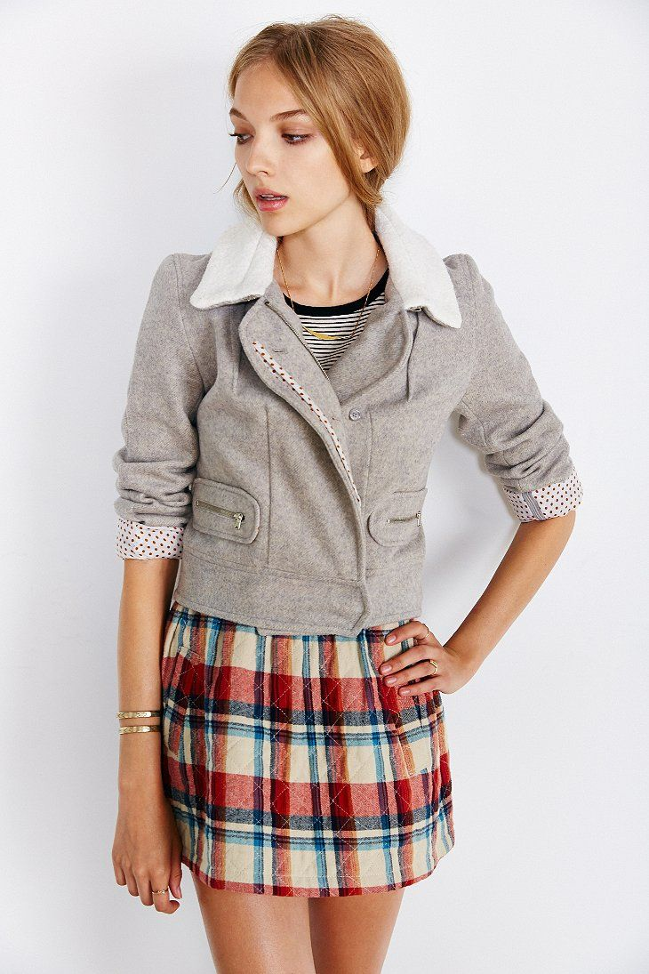 RYDER Wool Bomber Jacket Urban Outfitters Wool bomber