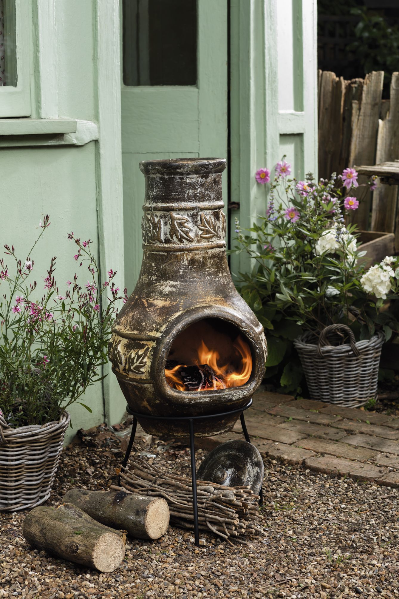 Keep Warm And Toast Marshmallows Around Your Own Chiminea Matchmade Chimnea Outdoor Backyard Decor Backyard Pergola