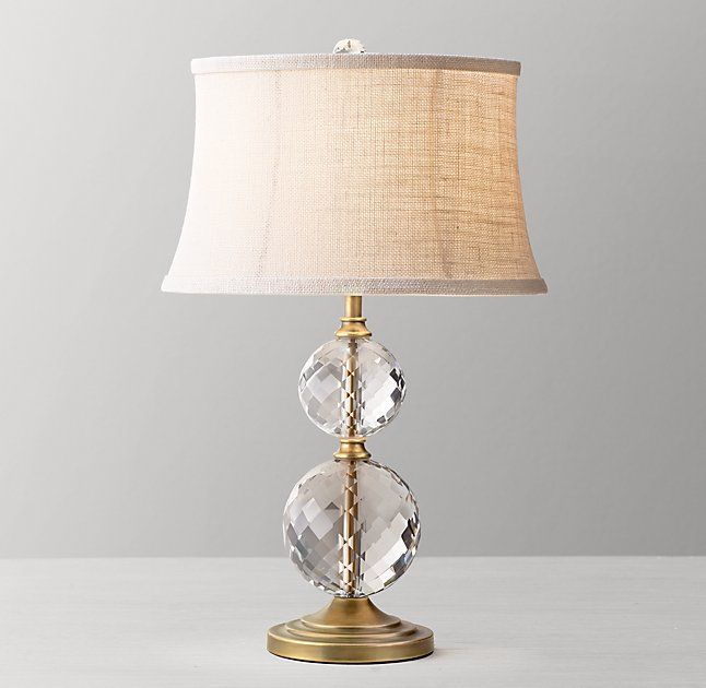 Lourdes Stacked Crystal Ball Table Lamp Base Antiqued Brass Table Lamp Base Floor Lamp Base Lamp Bases