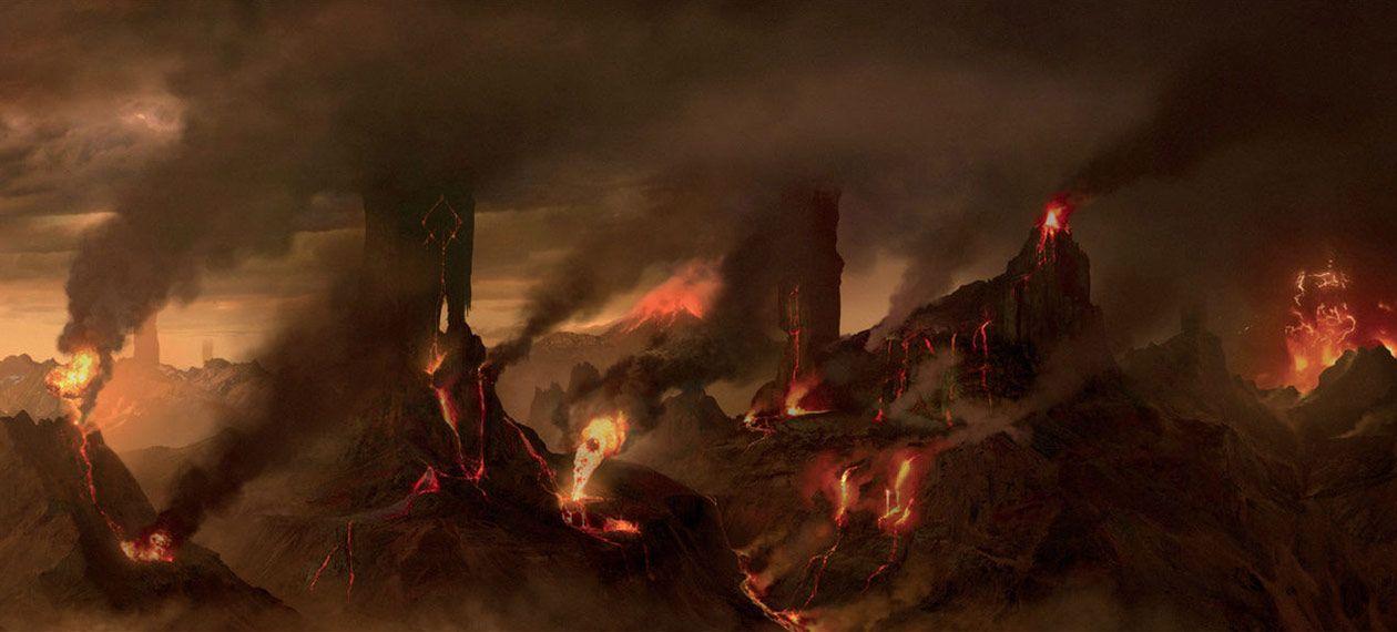 Muspelheim environment artwork from God of War #art #illustration ...