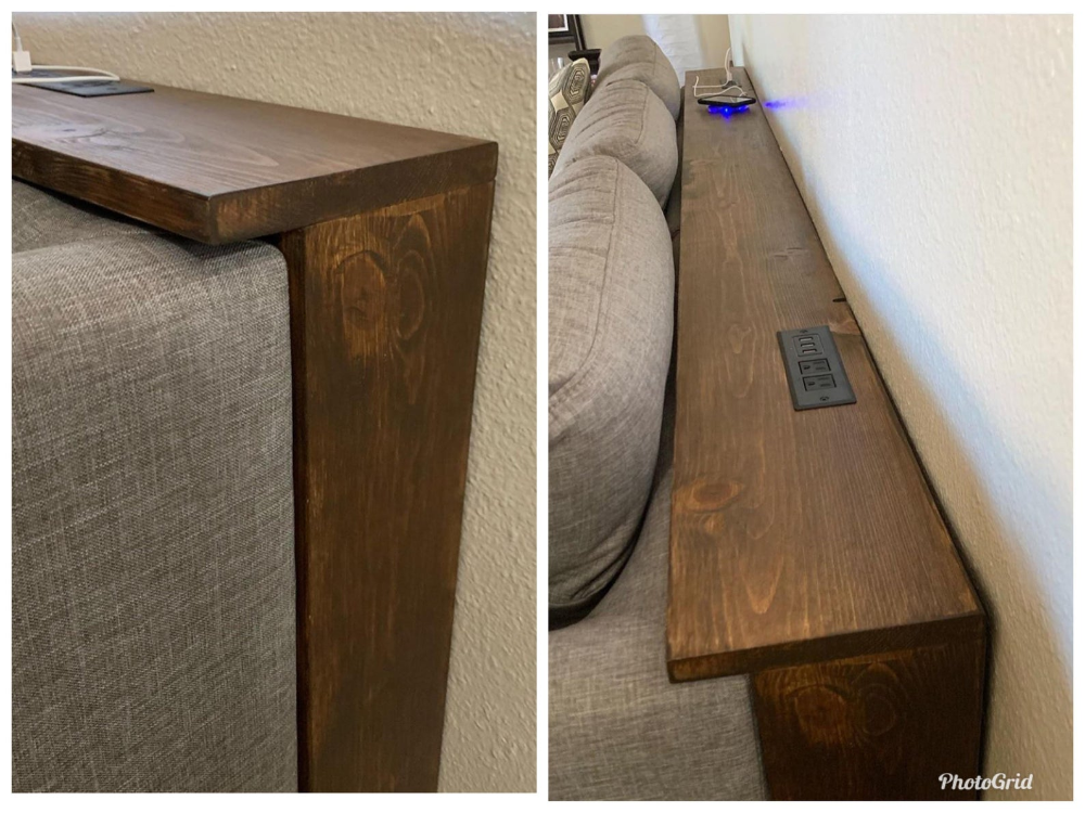 Behind the Couch Console Table Plans