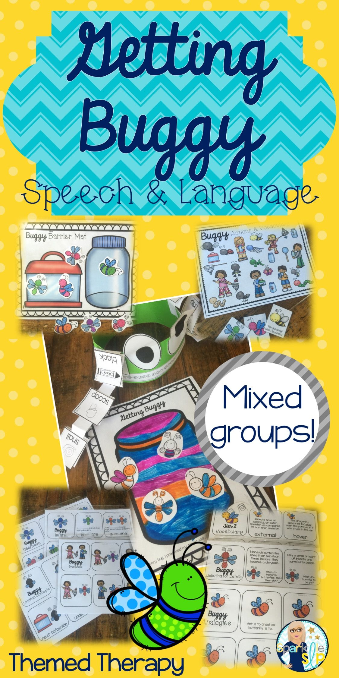 Speech And Language Bug Themed Therapy Pack For Mixed