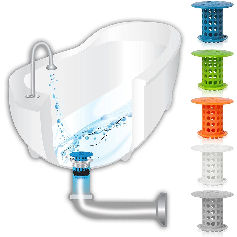 KCASA Simply Multifunctional Bathromm Bathtub Drain Protector Hair ...