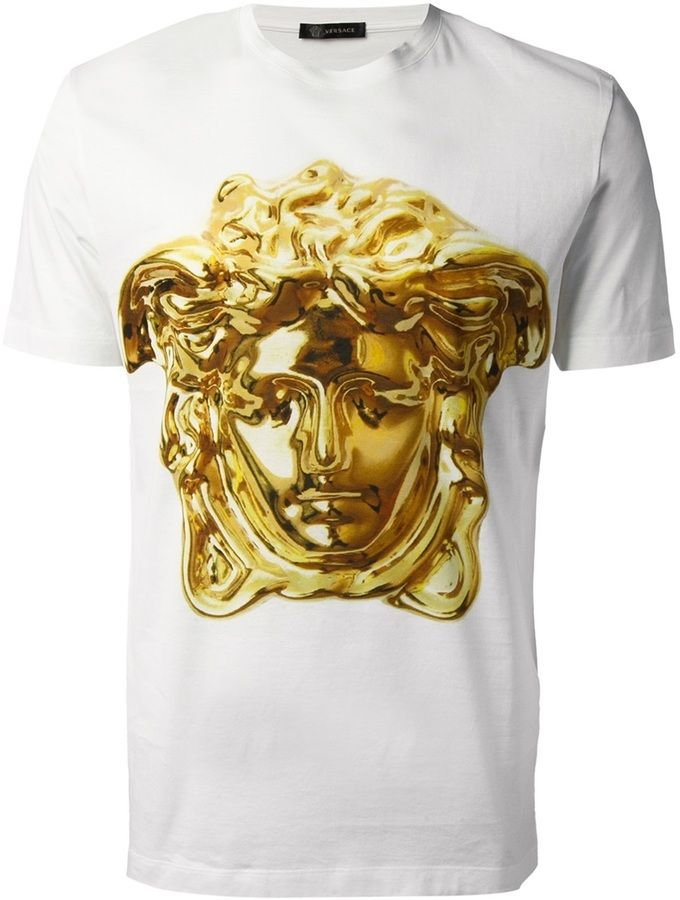 4da12156 White Print Crew-neck T-shirt by Versace. Buy for $633 from farfetch.com