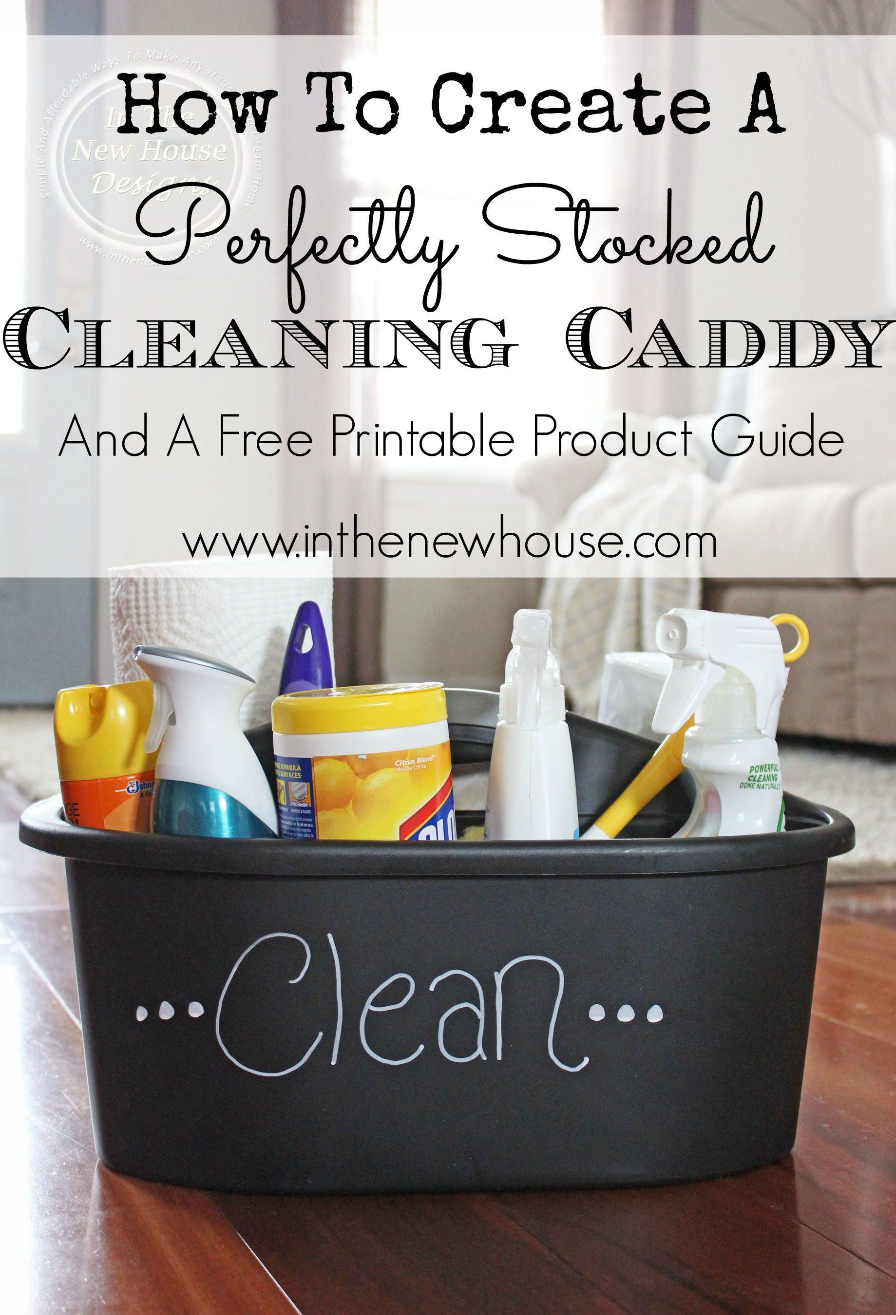 How To Create A Perfectly Stocked Cleaning Caddy | Cleaning caddy ...