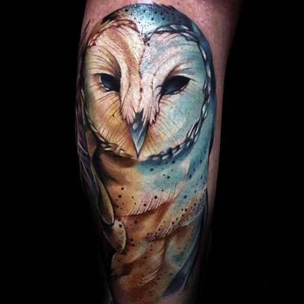 60 Barn Owl Tattoo Designs For Men Lunar Creature Ink Ideas Barn Owl Tattoo Owl Tattoo Design Owl Tattoo