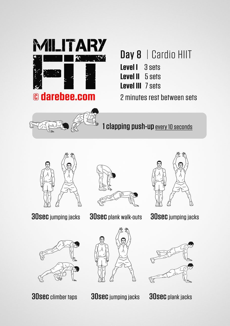 Military fit 30day fitness program military workout