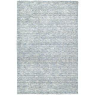 High Quality Bombay Home Gabbeh Hand Tufted Light Blue Rug (7u00276 X 9u0027) (7u00276 X 9u00270) (Wool,  Solid)