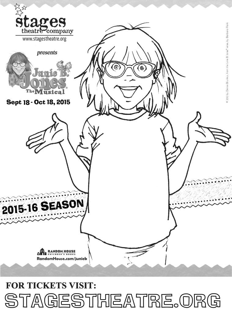 Junie B Jones The Musical Stages Theatre Company Coloring Sheet