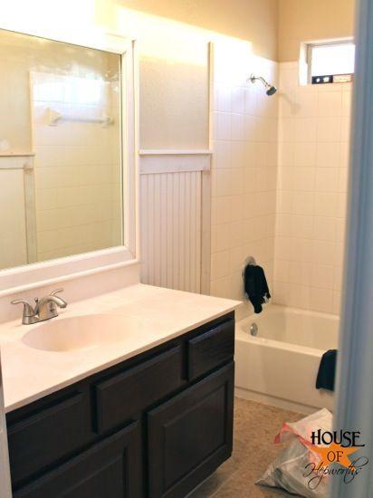 The Kids Bathroom Mirror Gets Framed House Of Hepworths Kids