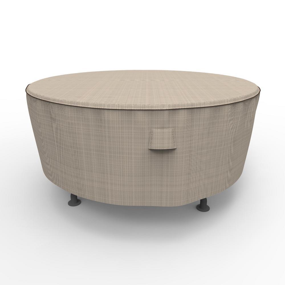 Extra Large Round Table Cloth.Budge English Garden Extra Large Round Patio Table Covers Brown