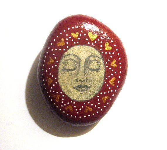 Hand painted art stone/paperweight/unique gift. by SeeQueenStones, £10.00