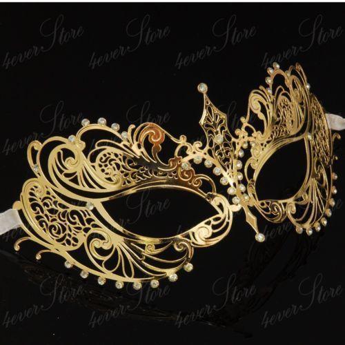 Delicate Venetian Metal Mask Filigree Masquerade Ball Mask  Rose Gold Mask Party