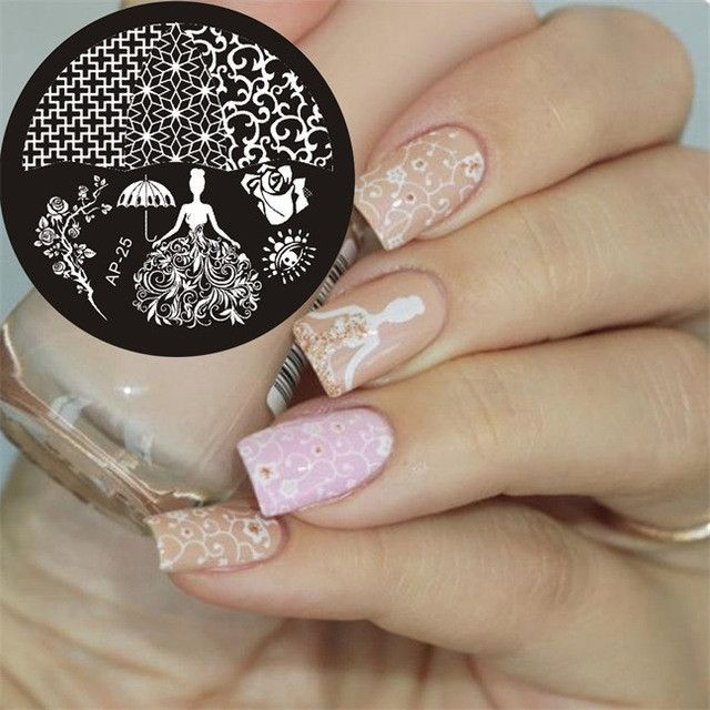 Ap Series Round Plates Nail Stencil Nail Art Image Plate Template ...