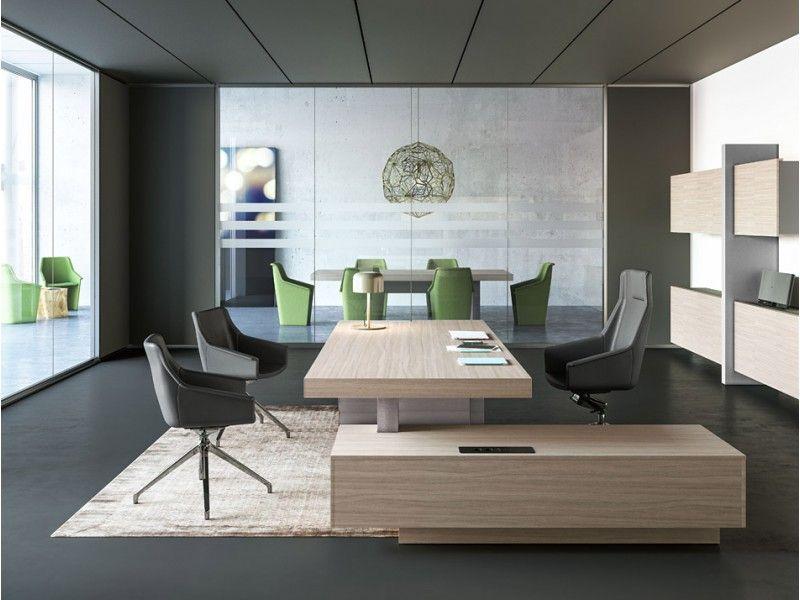 17 exklusiv Büromöbel, modernes Chefbuero, JERA Schreibtisch mit ...