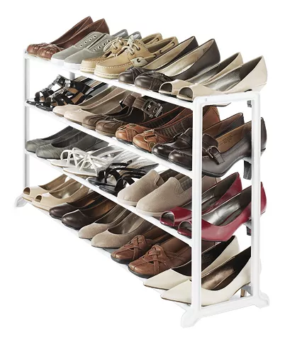 Whitmor 20-Pair Floor Shoe Stand