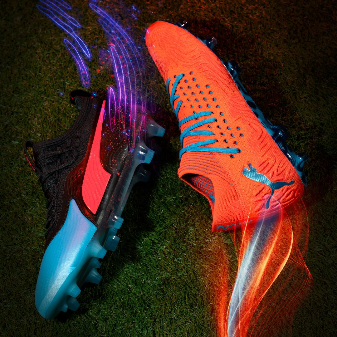 a2de0054839 Introducing the Puma Power Up cleat pack. Unlock  NewLevels with the Puma  FUTURE and Puma ONE. The cleat pack features an electric new colorway with  new ...