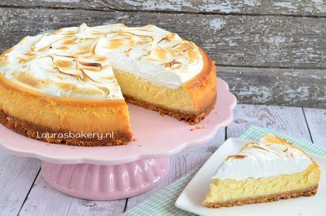 Lemon meringue cheesecake - Laura's Bakery #lemonmeringuecheesecake Lemon meringue cheesecake - Laura's Bakery #lemonmeringuecheesecake