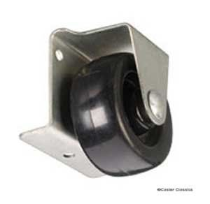 This low profile caster practically disappears under your cabinet ...