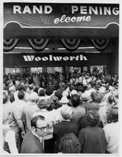 Shopping Days In Retro Boston: I Remember Woolworth's with my nana. grilled cheese, clam roll and foot long dogs at the counter. we called it the five and ten