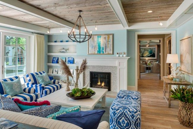 Charming Gorgeous Coastal Living Room Decorating Ideas (32) Gallery