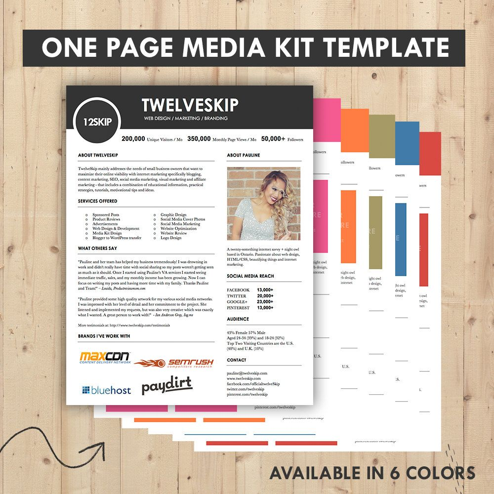 Media Kit Press Kit Templates  Easy To Edit Clean  High