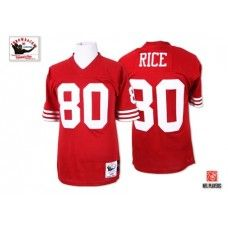 ad8777691 ... Autographed Signed Nike Mitchell and Ness San Francisco 49ers 80 Jerry  Rice Red Throwback Authentic NFL Jersey ...