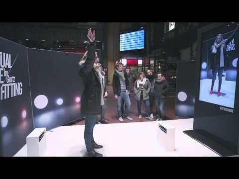 버추얼피팅/신발/프로모션/Réalité augmentée - Kinect http://www.digitalbuzzblog.com/goertz-augmented-reality-virtual-shoe-fitting-store-installation