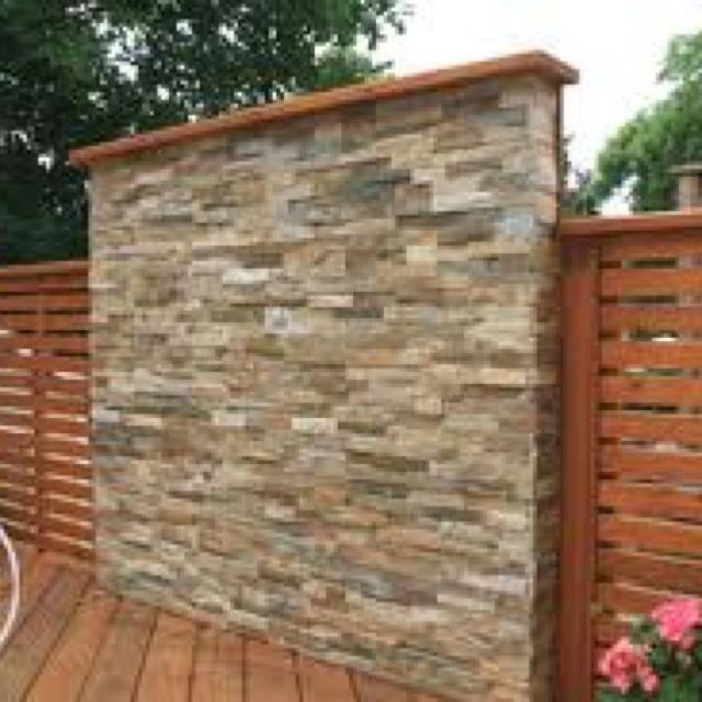 Backyard Patio Privacy White Accent Wall: Dividing Wall -- Back Deck Idea