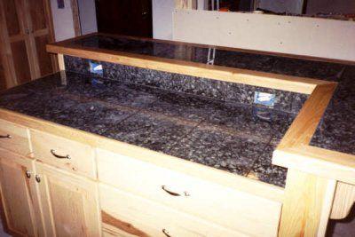 diy tile countertops edging   and ceramic v-cap ( pre-made ceramic