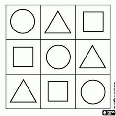 shapes coloring page circle triangle square Preschool