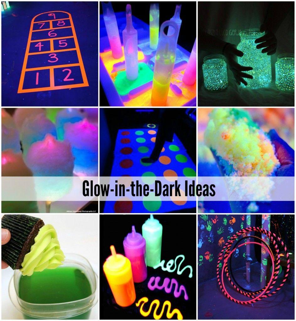 Glow-in-the-Dark Games, Activities And Food