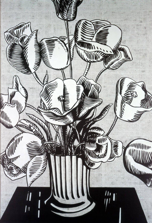 Roy Lichtenstein - Black Flowers - 1961