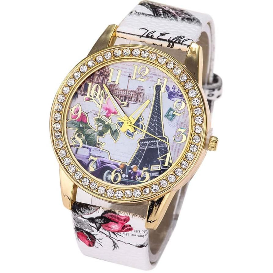 Women's Eiffel Tower Quartz Watch With Crystal Allow 4-6 weeks delivery