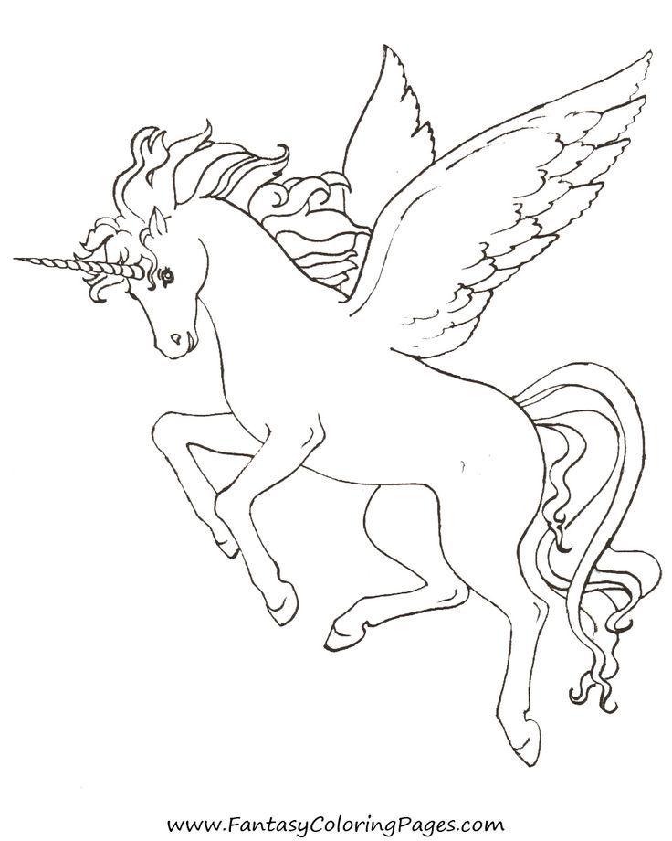 free coloring kids unicorn # 15