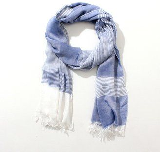 Cool blue scarf / ShopStyle: [エムケーオム]ストール