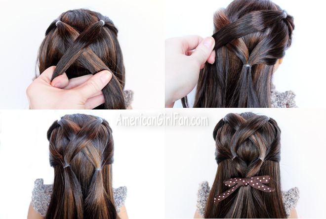 Steps for American Girl Doll Criss-Cross Ponytail Hairstyle (via ...