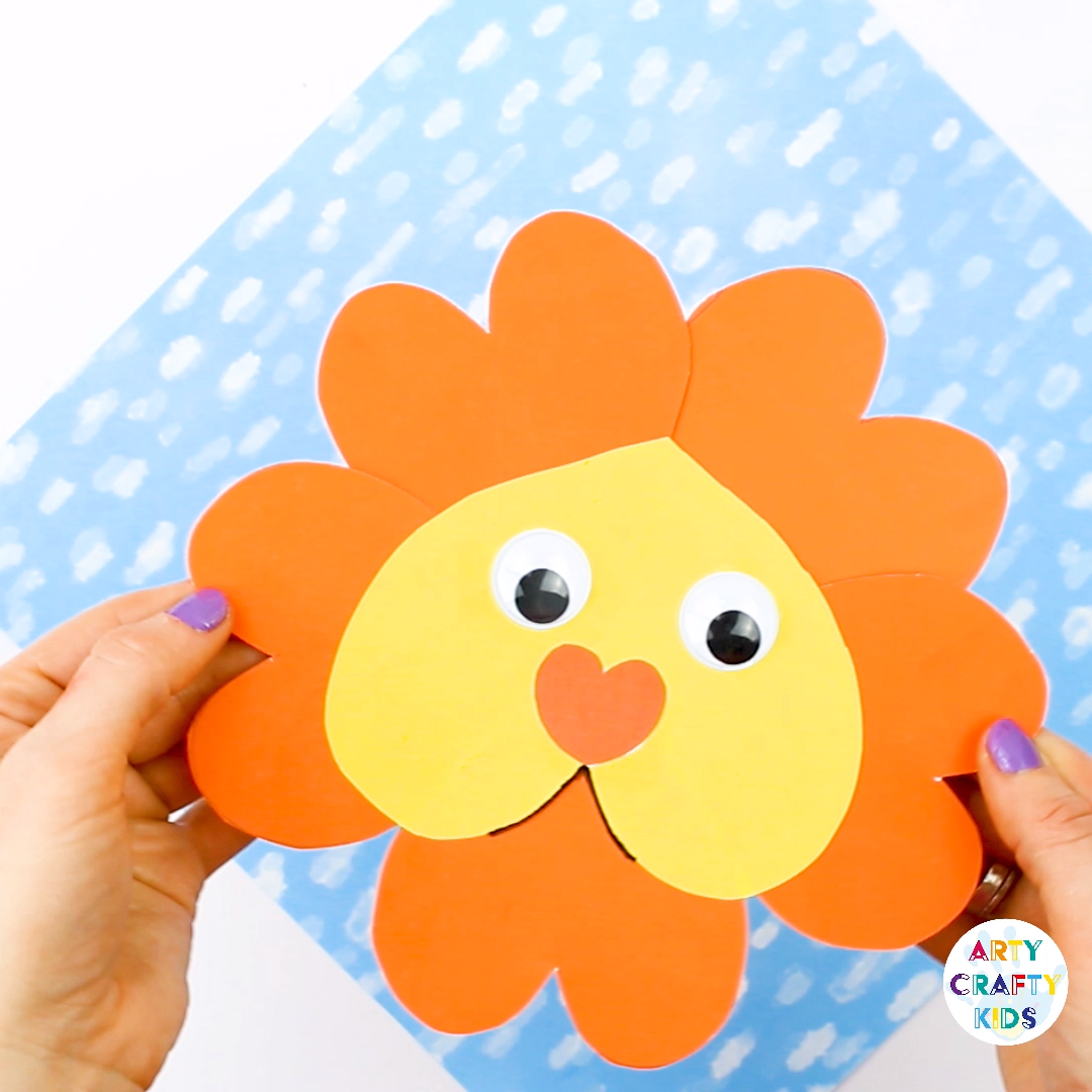 Heart Shaped Lion Craft  #craftsforkids