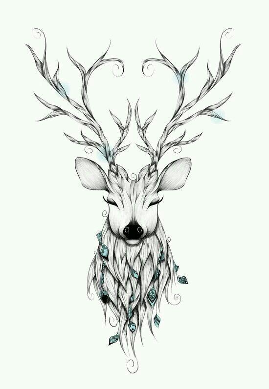 Desenho Dos Cervos, Veados, Desenhando Arte, Renas, Desenho Tumbler, Desenho  Tattoo 93646b02e3