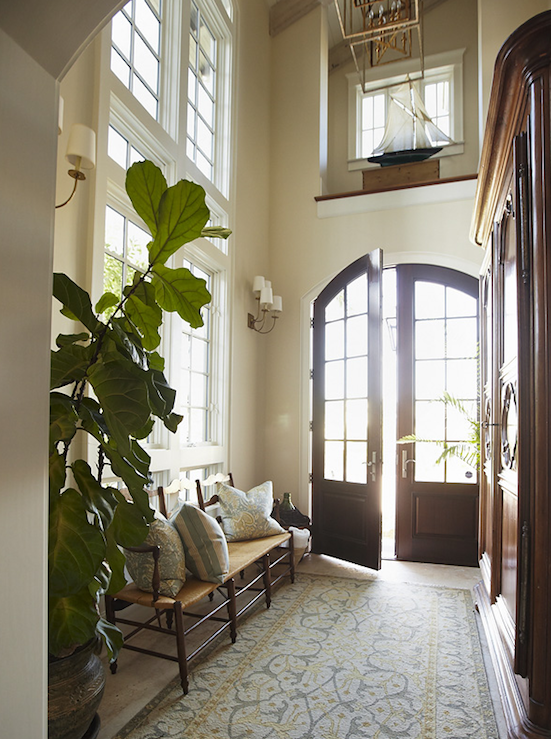 Story Foyer Window : Love the two story foyer and arched french front doors