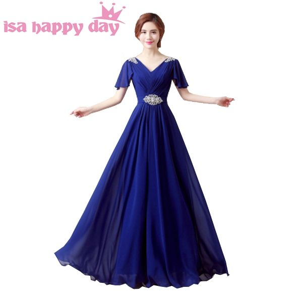 sexy ladies lace up hot pink and blue chiffon top prom gown occasion dresses  2018 beaded feedea399f72